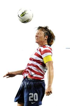 Statistically, almost half of US soccer star Abby Wambach's goals in international play are scored with her head.